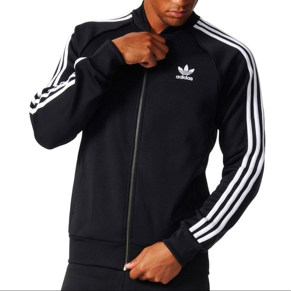 Adidas Men/'s Originals Superstar Track Jacket Pink//White ce8041